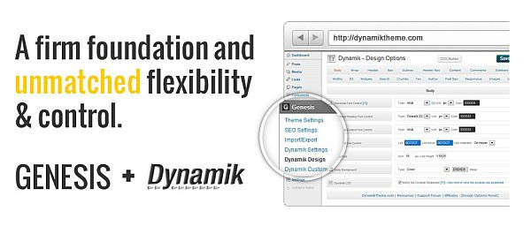 Dynamik Website Builder – A New WordPress Theme Framework By Catalyst Built Upon Genesis