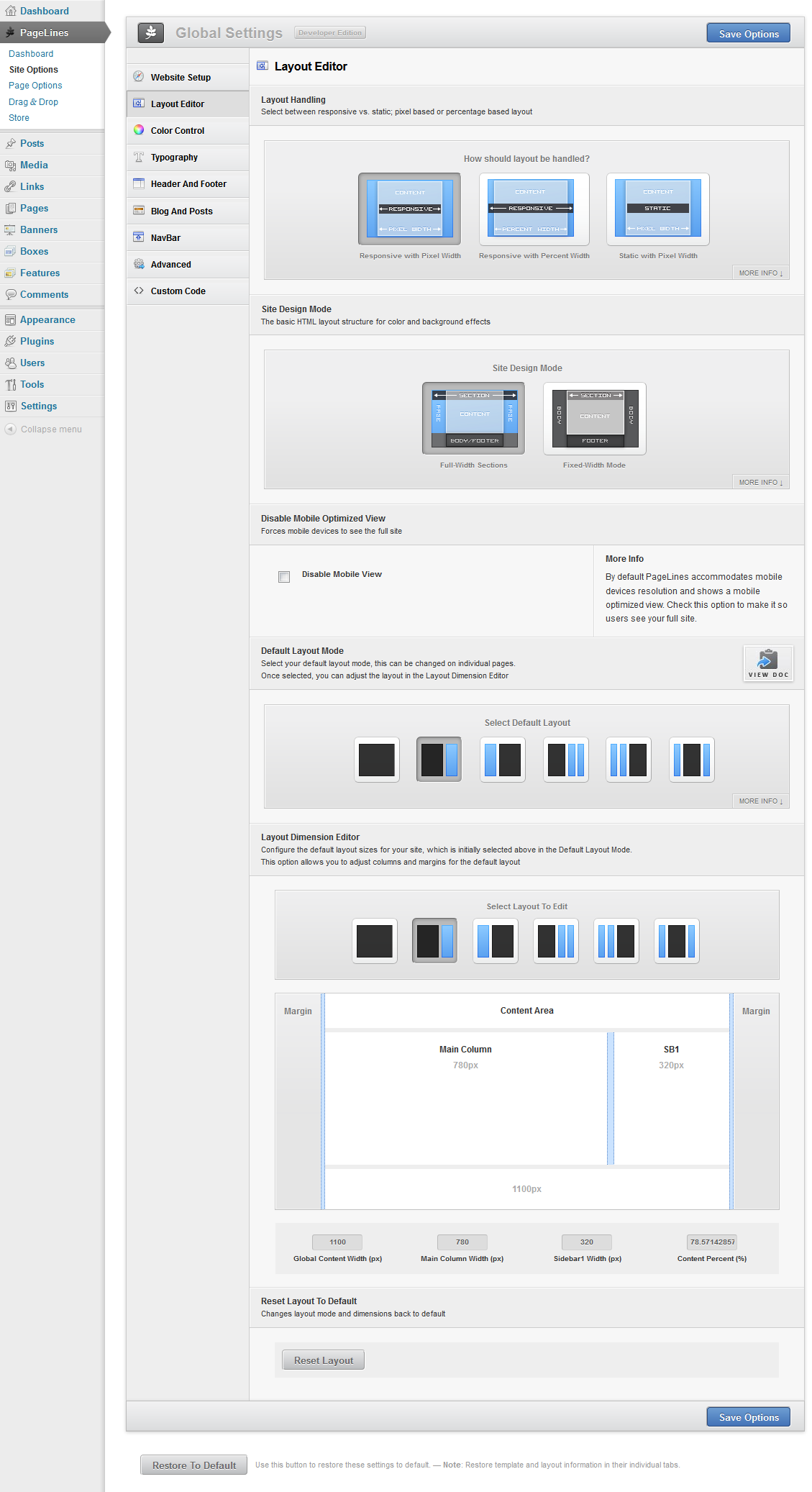 nextgen template editor - pagelines drag drop framework review a first look