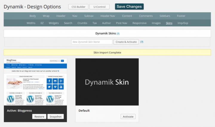 Dynamik Design - import BlogPress skin complete