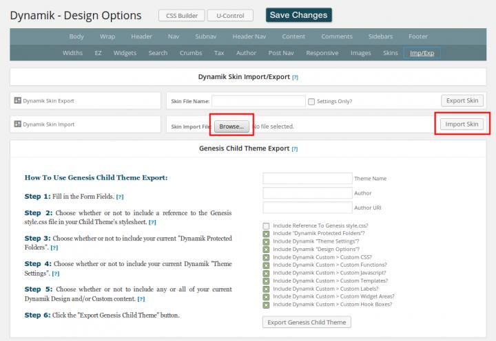 Dynamik Import BlogPress.zip
