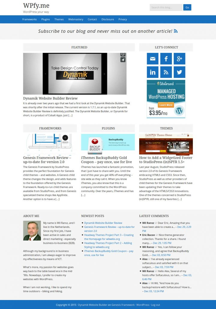 WPfy.me Dynamik BlogPress Skin Widgetized