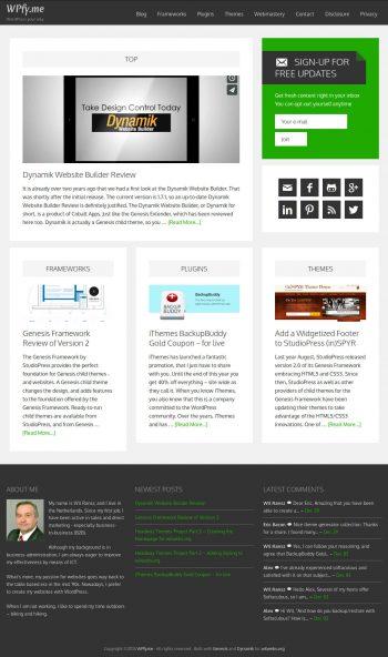 WPfy.me Magazine homepage