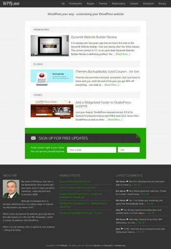 WPfyme One Content Column