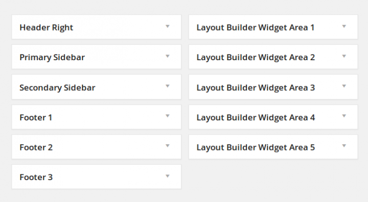 ElegantBuilder Widget Areas