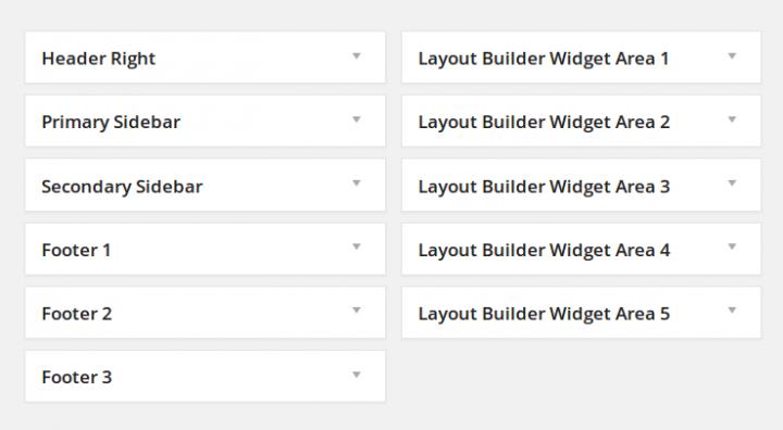 ElegantBuilder Widget Areas