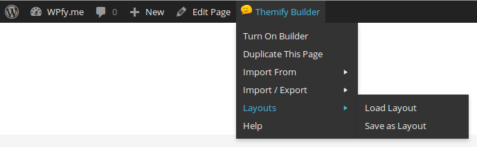 Themify Builder Frontend Admin Bar