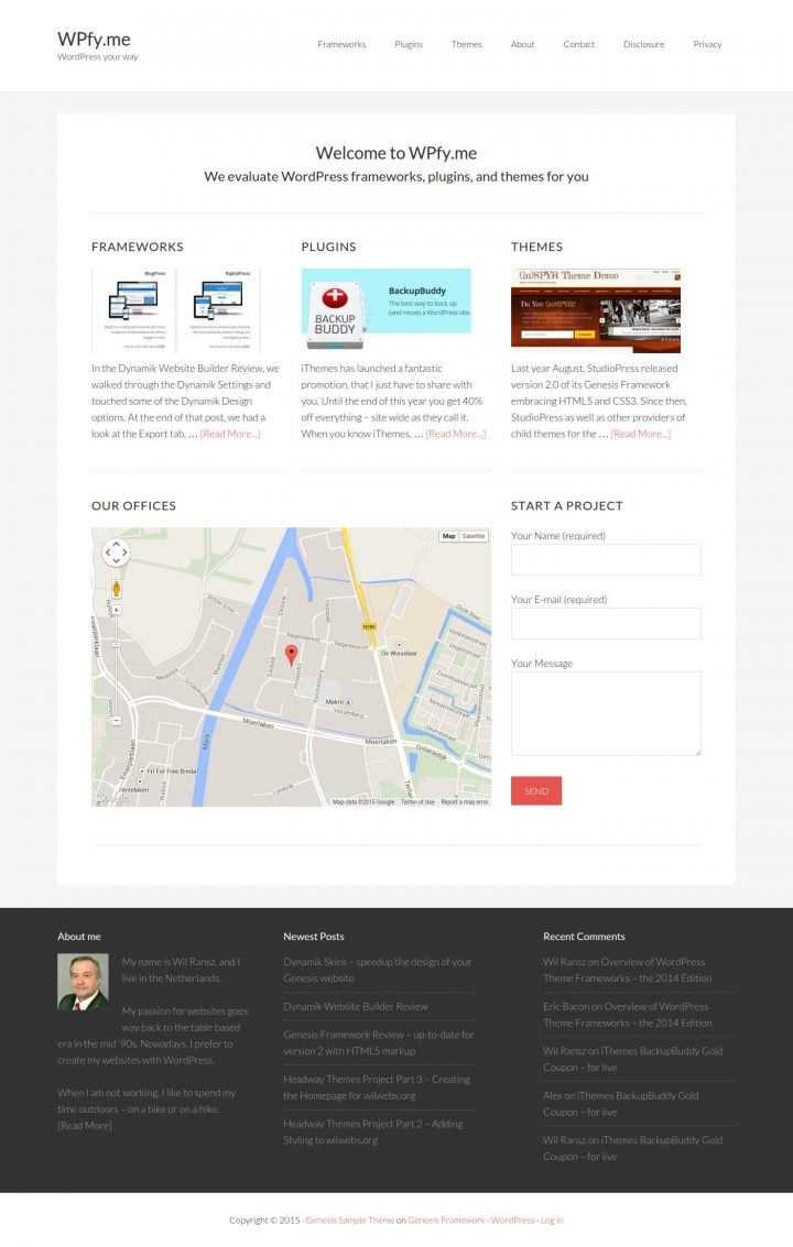 Themify Builder Homepage