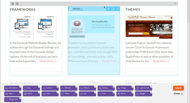 Themify Builder Homepage Frontend