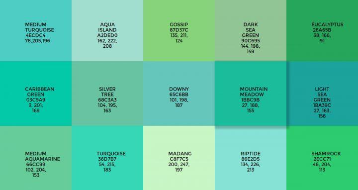 Flatuicolorpicker.com Greens
