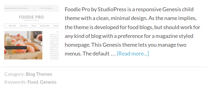 Genesis Entry Footer with Categories and Tags