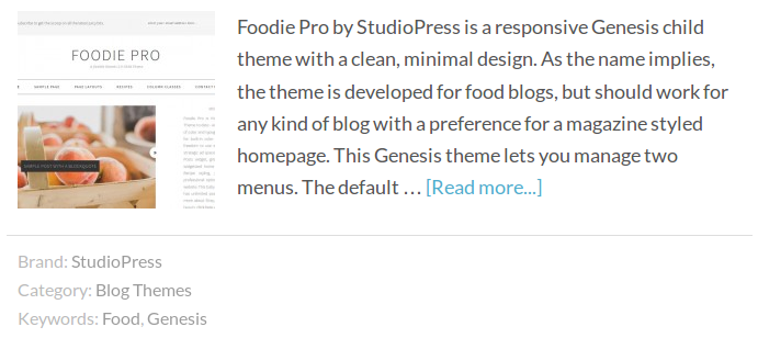 Genesis Entry Footer 2 with the Brands Taxonomy